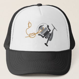 Fishing knot to connect line to the spool vector trucker hat