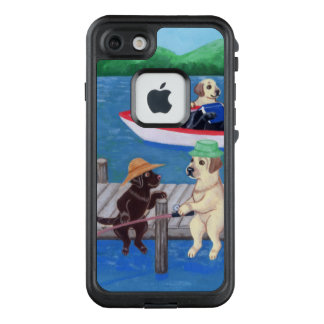 Fishing Labradors Painting iPhone Case