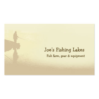 Fishing lake Double-Sided standard business cards (Pack of 100)