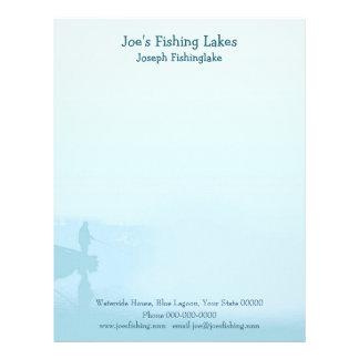 Fishing lake letterhead template