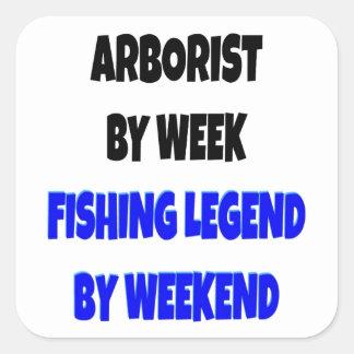 Fishing Legend Arborist Square Sticker