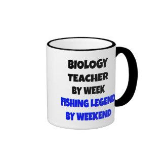 Fishing Legend Biology Teacher Ringer Coffee Mug