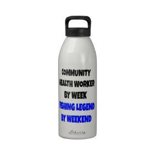 Fishing Legend Community Health Worker Reusable Water Bottle