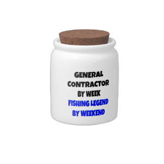 Fishing Legend General Contractor Candy Jars