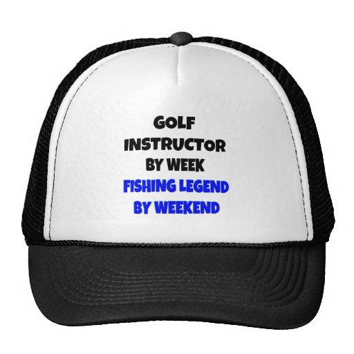 Fishing Legend Golf Instructor Mesh Hats