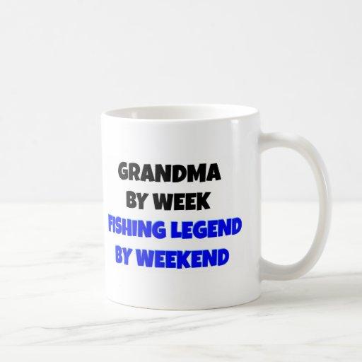 Fishing Legend Grandma Mugs
