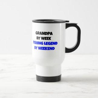 Fishing Legend Grandpa 15 Oz Stainless Steel Travel Mug