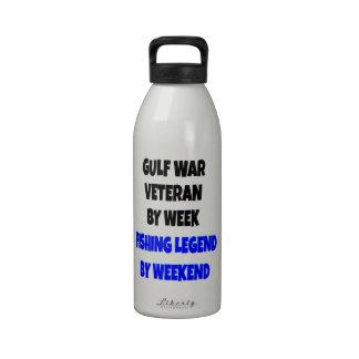 Fishing Legend Gulf War Veteran Reusable Water Bottles