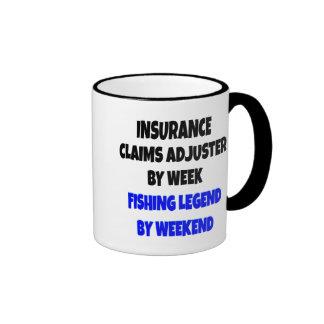 Fishing Legend Insurance Claims Adjuster Ringer Mug