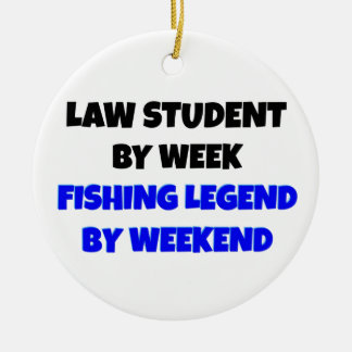 Fishing Legend Law Student Ceramic Ornament
