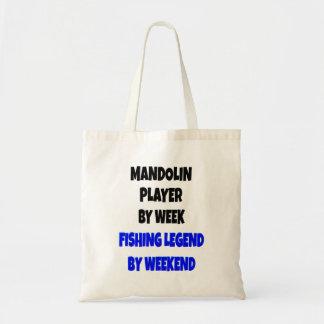 Fishing Legend Mandolin Player Tote Bags