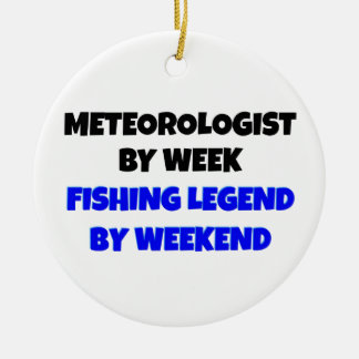 Fishing Legend Meteorologist Ceramic Ornament