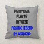 Fishing Legend Paintball Player Pillow