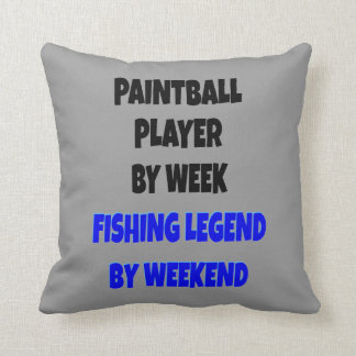 Fishing Legend Paintball Player Pillow