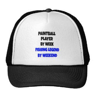 Fishing Legend Paintball Player Trucker Hat