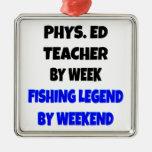 Fishing Legend Physical Education Teacher Christmas Tree Ornaments