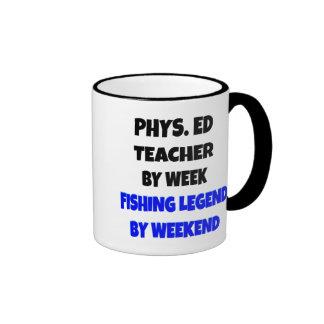 Fishing Legend Physical Education Teacher Ringer Mug