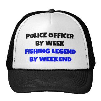 Fishing Legend Police Officer Mesh Hat