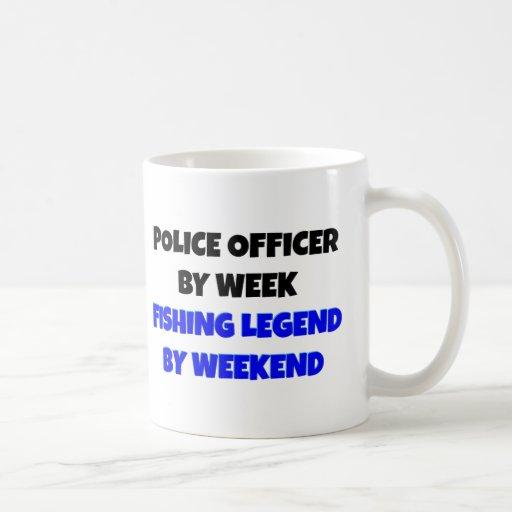 Fishing Legend Police Officer Mugs