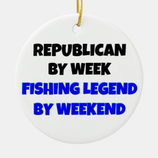 Fishing Legend Republican Ceramic Ornament