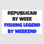 Fishing Legend Republican Rectangle Stickers