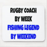 Fishing Legend Rugby Coach Mouse Pad