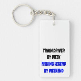 Fishing Legend Train Driver Double-Sided Rectangular Acrylic Keychain