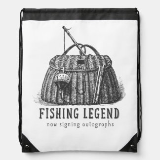 Fishing Legend Vintage Tackle Box Cinch Bag
