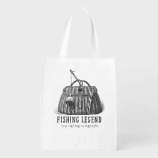 Fishing Legend Vintage Tackle Box Grocery Bag