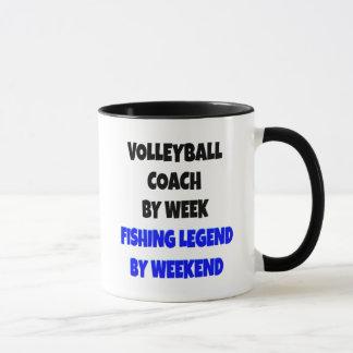 Fishing Legend Volleyball Coach Mug