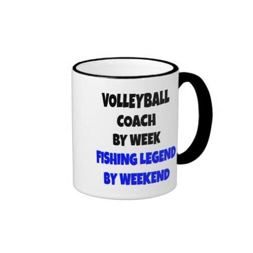 Fishing Legend Volleyball Coach Mugs