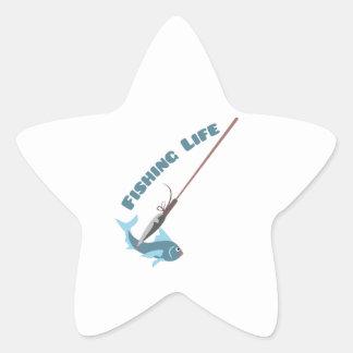 Fishing Life Star Sticker