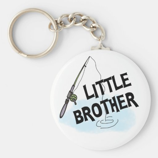 Fishing Little Brother Tshirts and Gifts Keychain