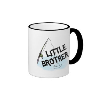 Fishing Little Brother Tshirts and Gifts Ringer Coffee Mug
