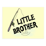 Fishing Little Brother Tshirts and Gifts Postcard