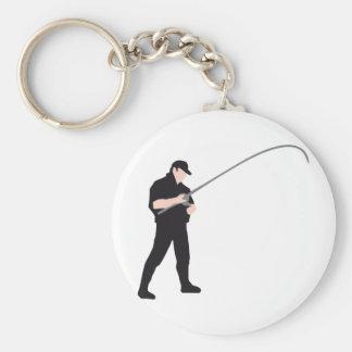 fishing llavero redondo tipo pin