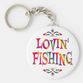 Fishing Lover Basic Round Button Keychain