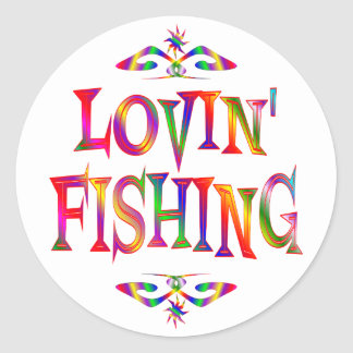 Fishing Lover Classic Round Sticker