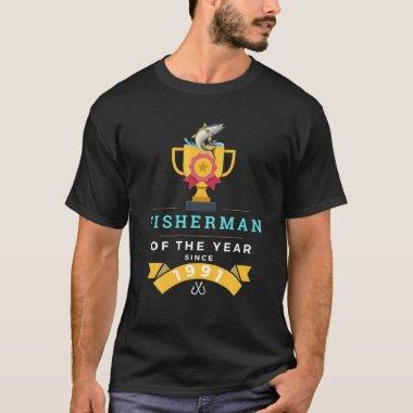 Fishing Lover Humor Jokes Fisherman Of The Year Si T-Shirt