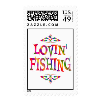 Fishing Lover Postage Stamps