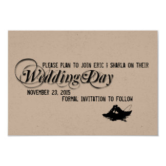 Fishing Lovers Great Catch Save the Date 3.5x5 Paper Invitation Card