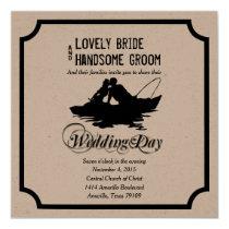 Fishing Lovers Great Catch Wedding Invitation