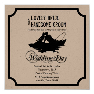 Fishing Lovers Great Catch Wedding Invitation