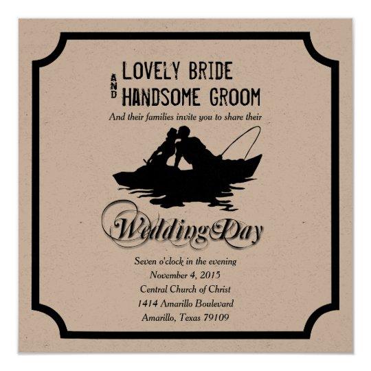 Fishing Great Catch Wedding Invitation
