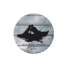 Fishing Lovers Wood Wedding Personalized Jelly Belly Tins at Zazzle
