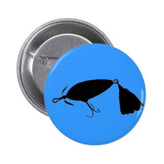 Fishing Lure 1 Silhouette a Pin