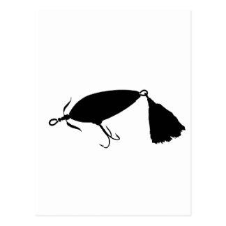 Fishing Lure 1 Silhouette a Postcard