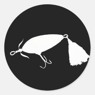 Fishing Lure 1 Silhouette b Classic Round Sticker