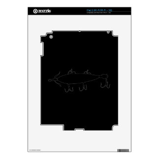 Fishing Lure 2 Silhouette a iPad 2 Decal