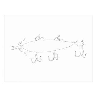 Fishing Lure 2 Silhouette b Postcard